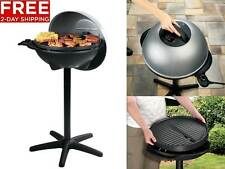George Foreman GGR50B Indoor Outdoor GRILL, Nonstick Portable Electric BBQ GRILL