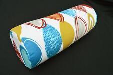 LF815g White Yellow Orange  Cotton Canvas Neck Yoga Bolster Case Pillow Cover
