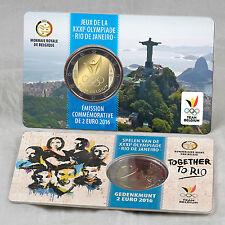 2 EURO MÜNZE COIN CARD BELGIEN BELGIUM OLYMPIA OLYMPIC GAMES RIO DE JANEIRO 2016
