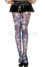 Skeleton Skulls Tattoo Style Pantyhose Gothic Stockings Punk Goth Style
