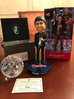 2008 WATERFORD PHILLIES WORLD SERIES BALL & 2019 CHASE UTLEY RETIREMENT BOBBLEHE