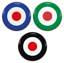 3x Mod Target RAF Roundel 25mm / 1 Inch D Pin Button Badges