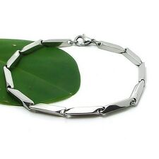 """Men's Bracelet Stainless Steel Chain 8"""" Link Fashion Jewelry Nice Gift"""