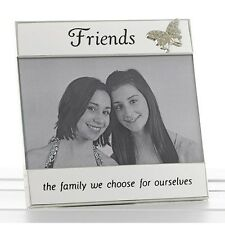Friends With Butterfly Silver Message Band Frame 6 X 4 Photo Gift 74036