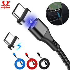 Braided Type-C USB C Cable Magnetic Fast Charger Cord For Samsung S10 S9 Note 10