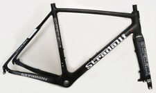 STRADALLI CARBON FIBER CYCLOCROSS CX BICYCLE FRAME CROSS BIKE FRAMESET GREY BB30