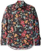 "Robert Graham Bold Floral Printed ""Exclusive"" Men's Party Shirt M Medium NEW"