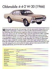 1966 Oldsmobile 442 W-30 Article - Must See !!
