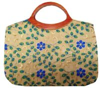 Indian Purse Ladies Vintage Traditional Embroidery  Hand Clutch Bag CL029BLUE