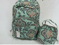 Vera Bradley Essential Backpack and Lunch Bunch Set Fan Flowers