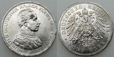 ALEMANIA 1913 A WILHELM II 5 MARCOS MARK MONEDA PLATA BRILLO ORIGINAL EBC/SC
