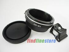 Canon EOS EF Lens to Sony E NEX 3 NEX 5 NEX 7 NEX C3 Tripod Mount Adapter + CAP