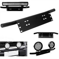 Universal Black Bumper License Plate Mount Bracket Holder for Driving Light H0W3