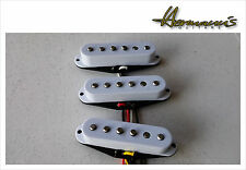Vintage 60s Single Coil Pickup Set, staggered Alnico V Magnete, Handgewickelt
