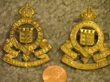 2 ORIGINAL WW2 Vintage ROYAL CANADIAN ARMY ORDNANCE CORPS CAP BADGE