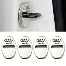 4pcs Stainless Steel Door Lock Buckle Protective Cover For Audi