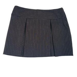 Star City Junior Mini Skirt Size 11 Pleaded Brown Striped Flare Short Bottom
