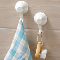 2X/set Plastic Seamless Wall Hanger Removable Suction Cup Hooks Vacuum Sucker TK
