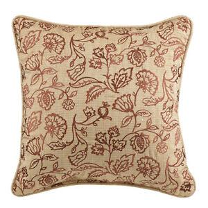 New Croscill Classics Tan Chenille  Jacobean Fashion Decorative Pillow MSRP $67