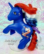 HQG1C Custom G1 MLP Style Rearing American Unicorn 🌟 STAR SPANGLED 🌟 w Stand!