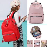 Waterproof Backpack Women Bookbag for Girl USB Charge Travel Laptop Bagpack