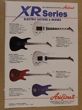 vintage magazine advert 1988 ARIA PRO XR SERIES