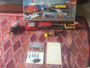 Lego 7720 Battery Freight 4.5 Volt Train Instructions, 1980, Box Figures Trains