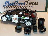 8 urethane rear tyres Fiat Abarth 1/32 FLY SLOT - UK
