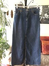 POLO JEANS Ralph Lauren sz 2 Blue Denim Long Maxi Skirt with Slit