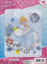 "NEW Disney Princess Framed Tray 16 Piece Jigsaw Puzzle 8.5"" x 11.7"" ~ Cinderella"
