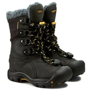 Brand new keen basin water proof boots in black yellow us 4 uk 3