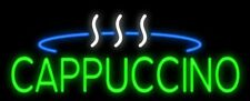 "New Cappuccino Bar Beer Man Cave Neon Light Sign 32""x16"" Coffee Cafe Open"
