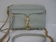 Rebecca Minkoff Mini Mac Bag Handbag, Shoulder Bag, Crossbody Pale Mint and Gold