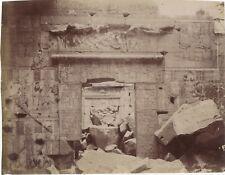 Egypte Écriture hiéroglyphique Temple Zangaki Photographie Vintage Albumine