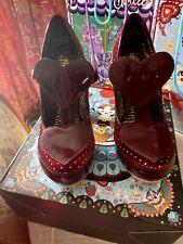 Irregular Choice Chukles Very Rare Heart T Bar & Gnome Heel Size 39 New In Box