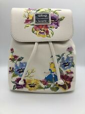 Loungefly Disney Alice in Wonderland & Flowers Embroidered Floral Mini Backpack