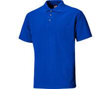Dickies Polo Manica corta 3 Bottoni lavoro T-shirt Uomo Sh21220 Blu Large