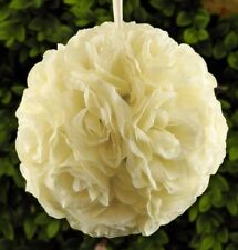 "10"" Rose Flower Pomander Kissing Balls Wedding Pew, Home Decoration Ivory"