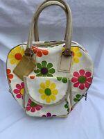 Vintage 60s Flower Power Bowling Bag 1960 Free Ship