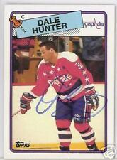 DALE HUNTER WASHINGTON CAPITALS 1989 TOPPS AUTOGRAPHED HOCKEY CARD JSA