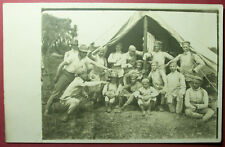 vintage Argentina Troops with Tent at a Military Camp Real Photo Postcard RPPC