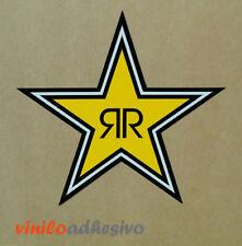 PEGATINA STICKER VINILO COCHE Rockstar energy drink estrella Lorenzo aufkleber