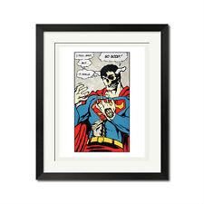 D*Face Feel So Good Skull Superman Street Graffiti Poster Print