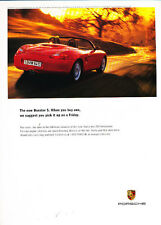 2000 Porsche Boxster S - red Friday - Vintage Advertisement Ad A24-B