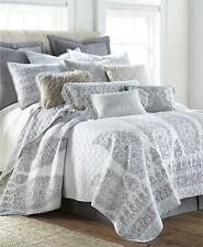 Levtex Home Josie Spa Paisley 3 Piece Full / Queen Quilt Set Grey