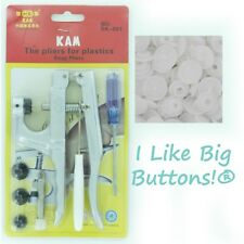 KAM Plastic Snap Pliers +50 Snaps PICK 1 COLOR Cloth Diapers/Poppers/Bibs/Nappy