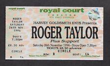 ROGER TAYLOR - QUEEN  :  1994 SOLO TOUR - LIVERPOOL UK CONCERT TICKET STUB