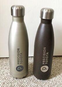 1 TOYOTA Metal Stainless Steel Drinking Water Bottle Silver or Dark brown/gray