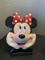 Enesco Disney Minnie Mouse Porcelain Face Wall Hanging / Plaque Vintage VTG