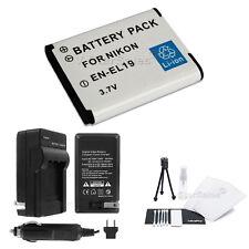 EN-EL19 Battery + Charger + BONUS for Nikon Coolpix S2500 S2700 S2750 S3200